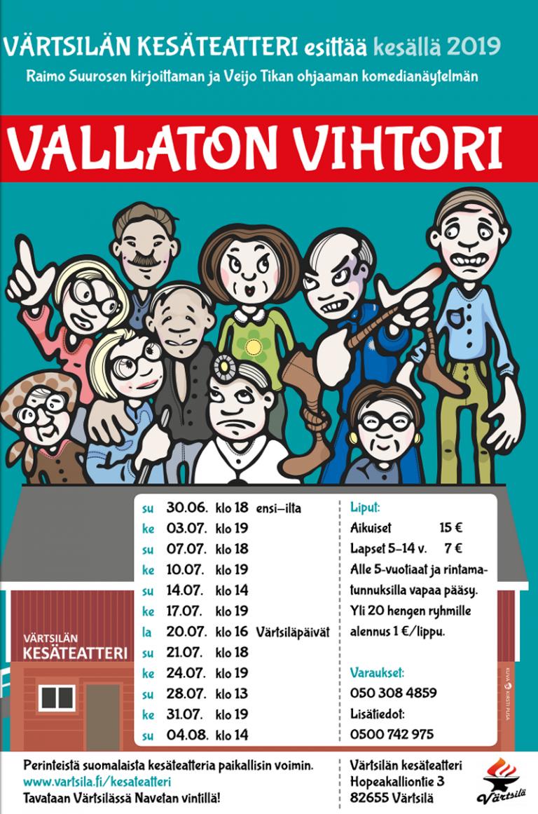 Ensi-ilta Vallaton Vihtori, Värtsilän kesäteatteri @ Värtsilän kesäteatteri